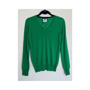 New Gucci green wool sweater XS
